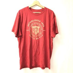 Eddie Bauer XL Red logo tee shirt